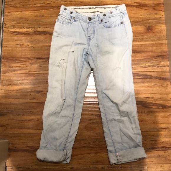 Boyfriend style free people jeans